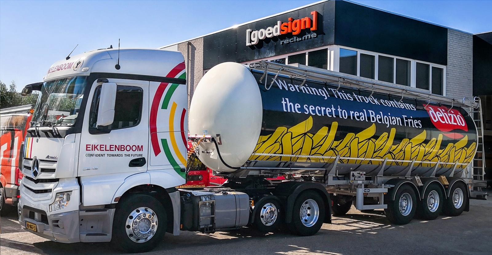 bestickering tankwagen goedsign